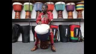 "Drumskull Drums & Mamady ""Wadaba"" Kourouma - Guinea, Lenke, Goat Skin Djembe"