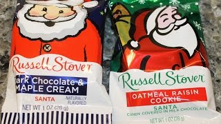 Russell Stover: Dark Chocolate & Maple Cream And Oatmeal Raisin Cookie Santa Review