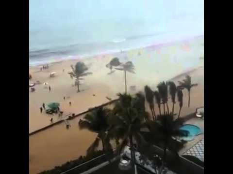 Water tornado at the beach in brazil