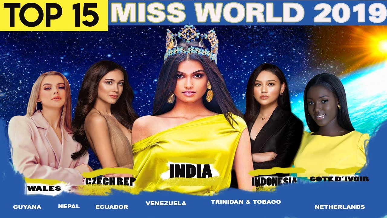 Miss World 2019 Top 15 Strongest Contenders Early