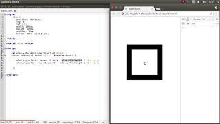 перемещение блоков по клику на экран с помощью JavaScript