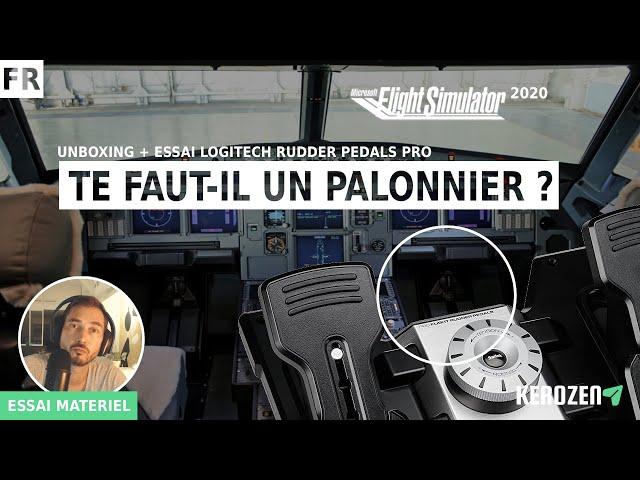 TE FAUT-IL UN PALONNIER POUR FLIGHT SIMULATOR 2020 ? Unboxing et essai Logitech Rudder Pedals Pro