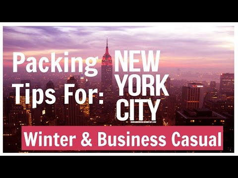 Packing Tips: NYC ll Business Casual & Cold Weather