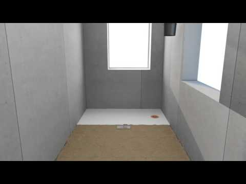 European Wet Room Surface Mounted on Concrete
