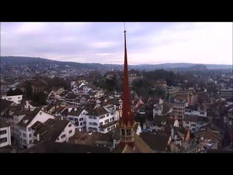 Zürich Grossmünster - the city from above