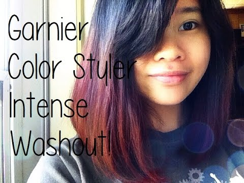 garnier color styler intense washout review red temptation youtube - Garnier Color Styler