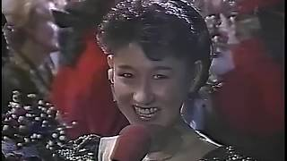 伊藤みどり Midori Ito interview after Free Skating - 1990 Worlds (Halifax)