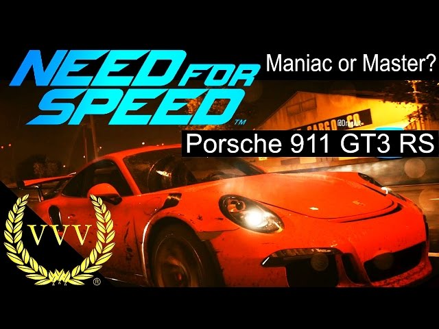 Need For Speed - Porsche 911 GT3 RS Race