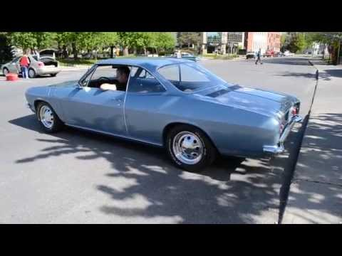 COOL 1966 CORVAIR MONZA IDLING & TAKE OFF