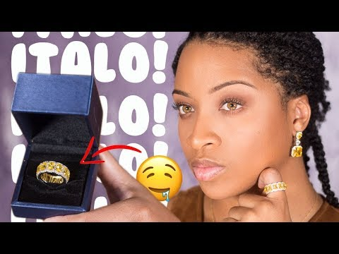 Beautiful Yellow Sapphire Rings, Earrings and Necklace| Italo Jewelry Review By Chazzzisawesome