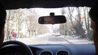 Уроки вождения по городу. Второй выезд (часть 4).