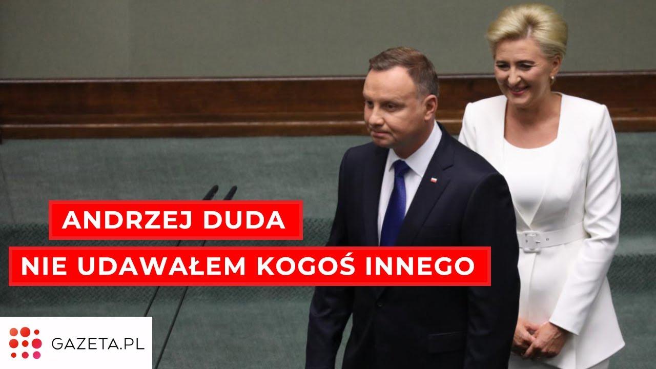 """Zaprzysiężenie Andrzeja Dudy. """"W kampanii nie udawałem kogoś innego"""""""
