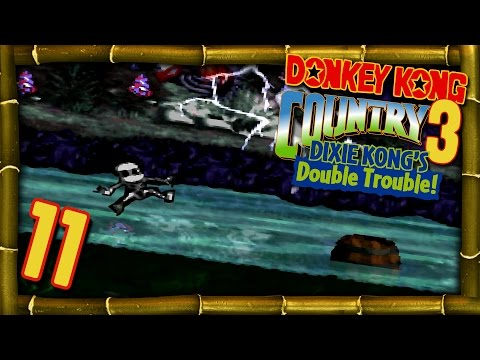 Let's Play DONKEY KONG COUNTRY 3 - DIXIE KONG'S DOUBLE TROUBLE - Part 11: Kiddy am Rasten