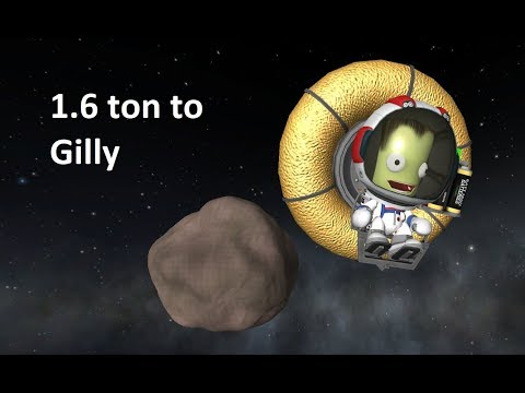 1.6 ton to Gilly and back - KSP