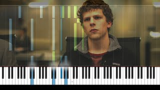 "The Social Network - ""Hand Covers Bruise"" by Trent Reznor and Atticus Ross - Piano Tutorial"