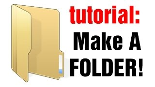 This video shows you how to create a new folder on your desktop on ...