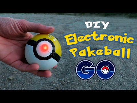 DIY Electronic Poke Ball - How To Make an Electronic PokeBall - Pokemon GO!