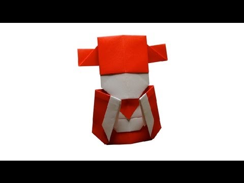 Papercraft Origami Little Chinese Mammon by Jacky Chan