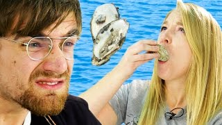 People Who Hate Seafood Try Oysters