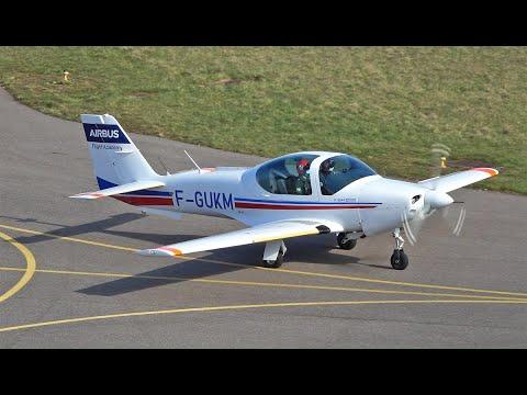 Airbus Flight Academy Grob G120A F-GUKM landing at Nancy Essey