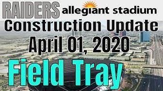 Las Vegas Raiders Allegiant Stadium Construction Update 04 01 2020