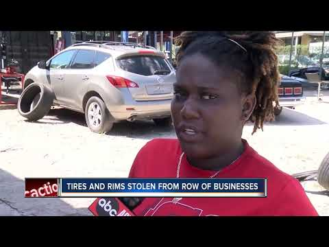 Thieves targeting Hillsborough neighborhood, stripping cars of tires and rims
