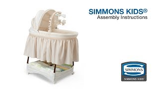Simmons Kids® Gliding Bassinet Assembly Video