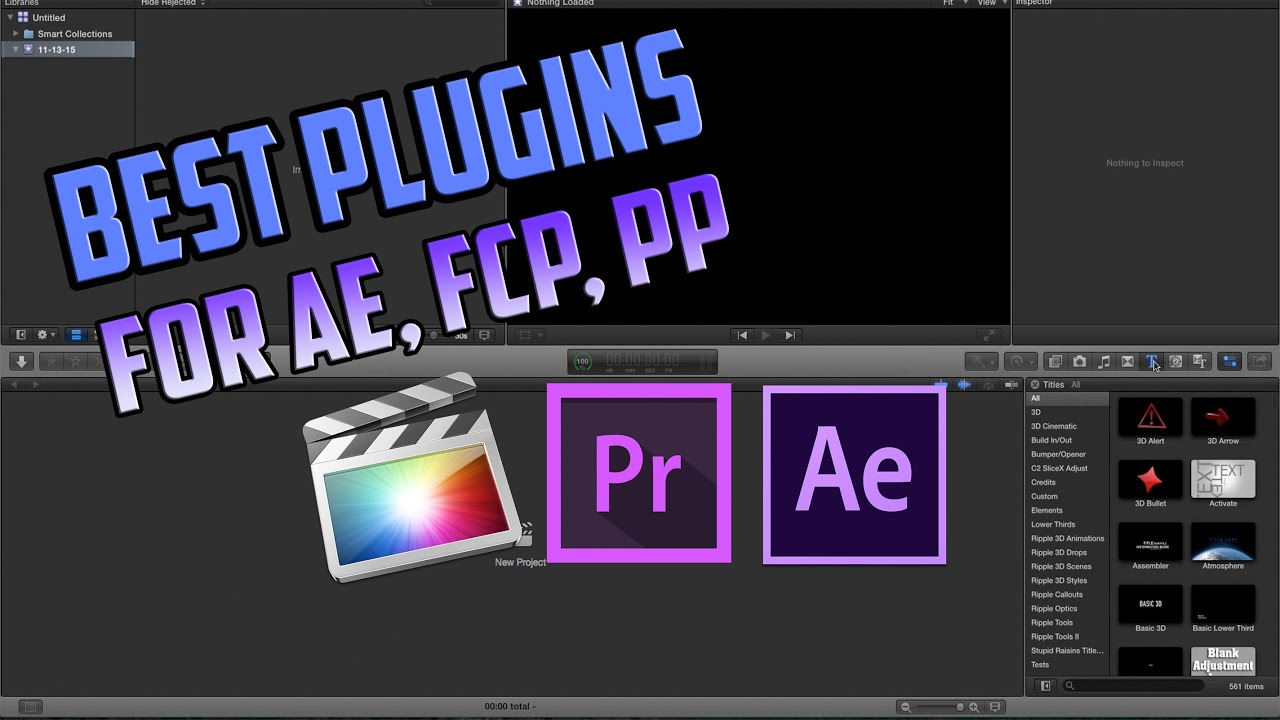 Get The Best Plugins For Final Cut Pro, After Effects and Premier Pro!  (FREE)