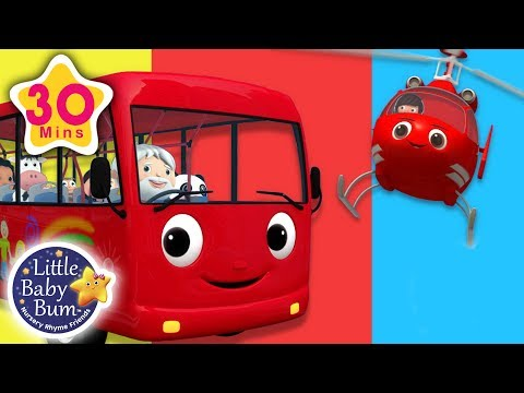 Wheels On The Bus  Helicopter Rescue  + More Nursery Rhymes & Kids Songs  Little Ba Bum