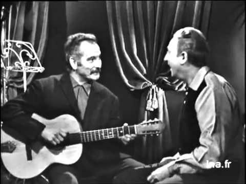 Charles Trenet et Georges Brassens