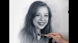 Brittney Karbowski Drawing by Dry Brush