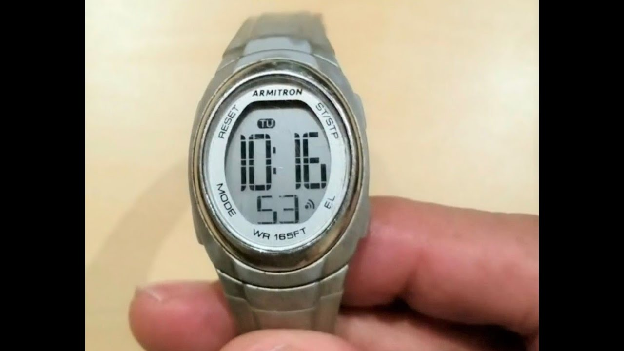 How To Turn Off Alarm On Armitron Watch Youtube