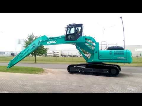 Kobelco SK350 with Cabinlift and extended Stick