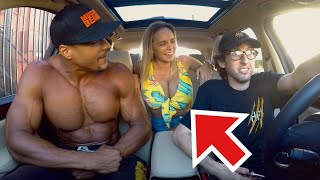Massive Body Builder Shocked By Rapping Uber Driver!
