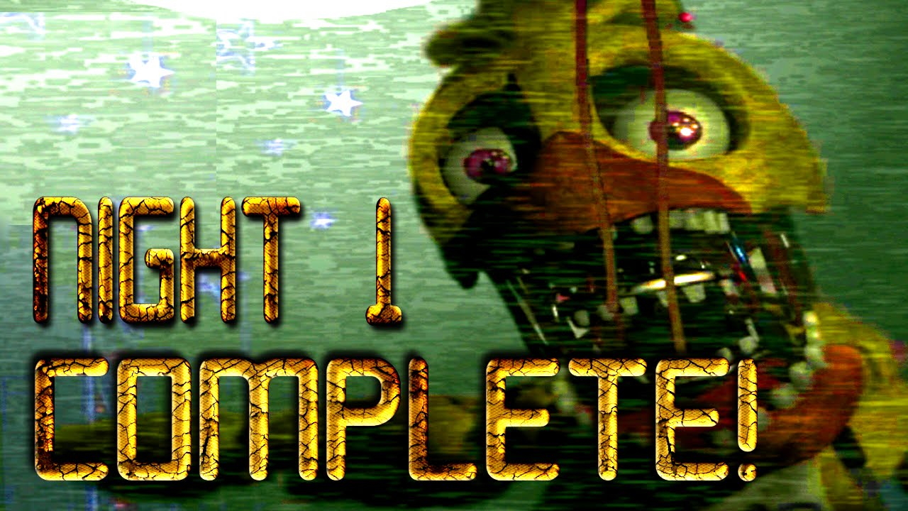 Night 1 complete the return to freddy s fan game youtube