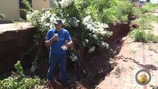 Erosão muito próxima à residência preocupa moradores