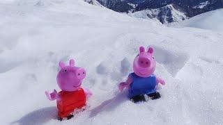 Свинка Пеппа и Джордж играют в снежки. Правила и подготовка игры: лепим и считаем снежки