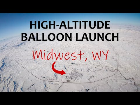 High Altitude Balloon Launch - Midwest School (February 2020) - Midwest, WY