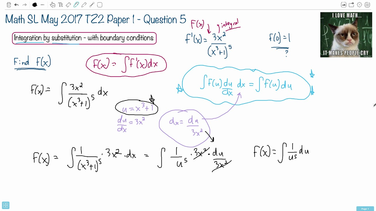 Question 5 — IB Math SL — May 2017 TZ2 Paper 1 — Past IB Exams Solutions