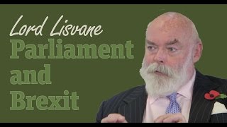Lord Lisvane: What is the role of Parliament in Brexit?