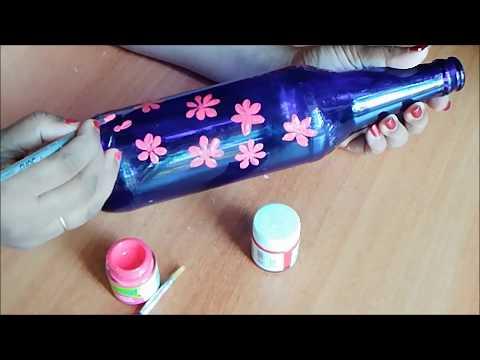 beer-bottle-painting-/-fabric-painting-on-beer-bottle-/-waste-bottle-decoration-/-bottle-craft
