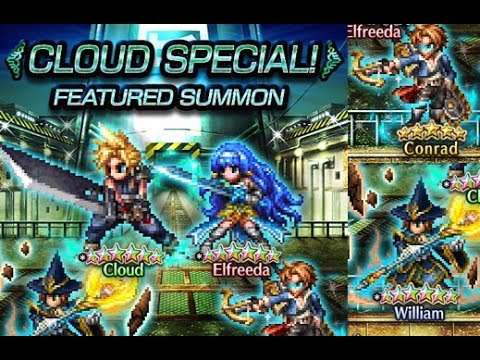 16 pulls on Cloud Special Banner Elfreeda William Conrad Final Fantasy Brave Exvius FFBE