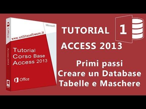 Access Corso Base: Agenda Telefonica - Database, tabelle e maschere - Tutorial 01