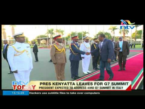 President  Kenyatta expected to address 43rd G7 summit in Italy