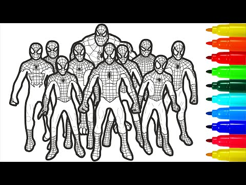 Spiderman Brotherhood Coloring