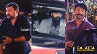 Stylish Arrival of STR , SJ Suryah , Gopinath , Radhika | Galatta Nakshatra Awards