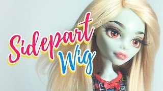 How to Make a Doll Wig | Basic Sidepart | Mozekyto #3