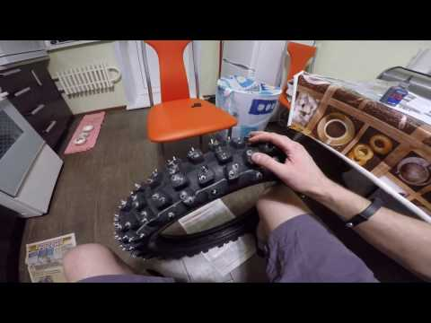 шиповка мотоколес шипами Kold Kutter Ice Screws + Gripstuds Grip Studs