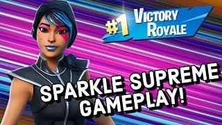 SPARKLE SUPREME Skin Gameplay À Fortnite