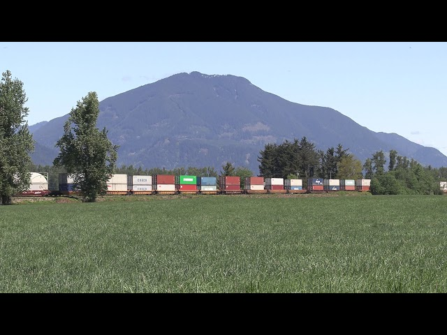 SP Trains #1459 CN111 from Gallagher Road, Abbotsford, BC   2020 05 07